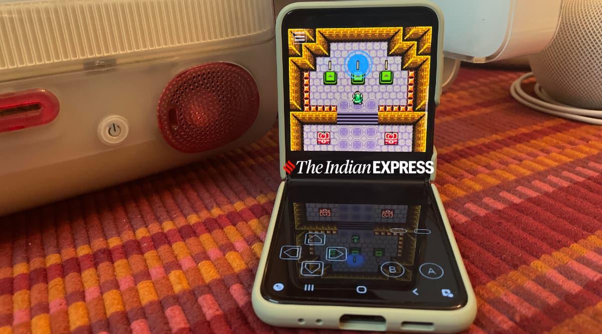 Galaxy Z Flip 3, Samsung Galaxy Z Flip 3, retro games, classic Nintendo games, Galaxy Z Flip 3 review, Galaxy Z Flip 3 retro console, portable game console
