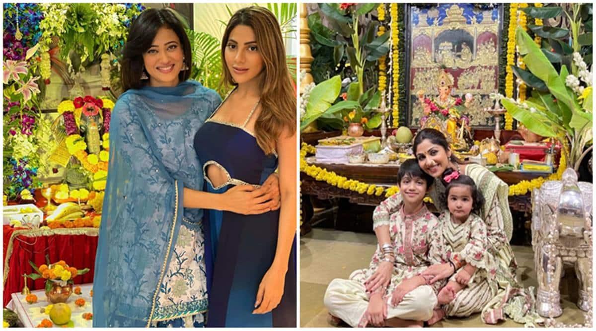 Ganesh Chaturthi 2021, Shweta Tiwari, Nikki Tamboli celebrate together, watch Shilpa Shetty bid farewell to 'Gannu Raja'