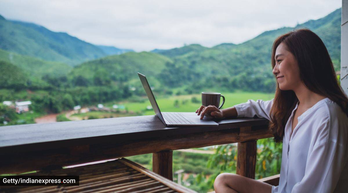 work from home, work from hills, workation, working remotely from hills, things to consider, travelling, indian express news