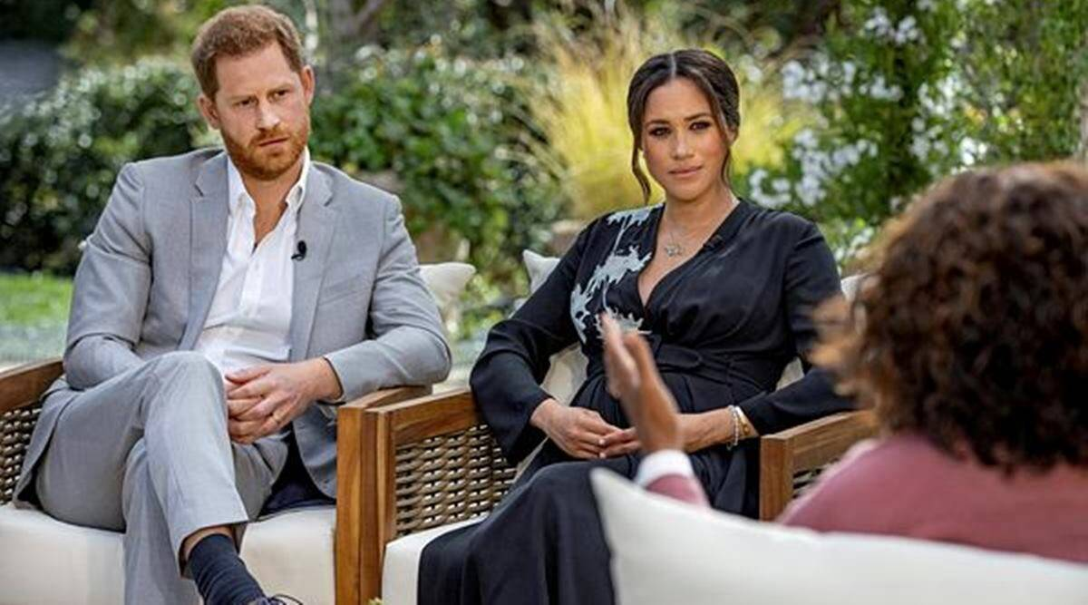 Prince Harry and Meghan Markle, Harry and Meghan, Prince Harry, Meghan Markle's TIME magazine cover shoot, Princess Diana watch, Harry and Meghan on TIME cover, indian express news