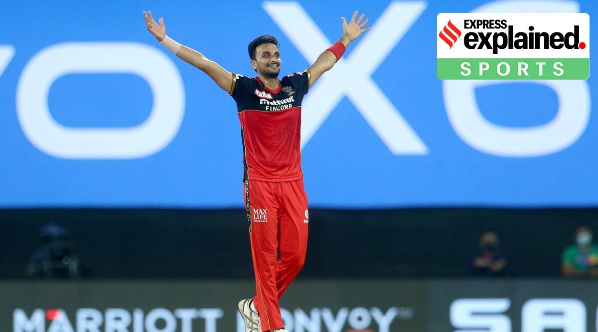 Harshal Patel, IPL 2021, Harshal Patel IPL, Harshal Patel performance, Who is Harshal Patel, Express explained, sports explained, Indian express