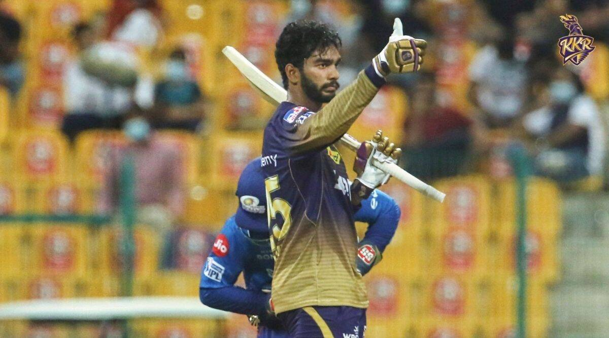 Venkatesh Iyer made a quick-fire half century (53 off 30) against Mumbai Indians to follow up on his unbeaten 41 against RCB (Twitter/KKR)