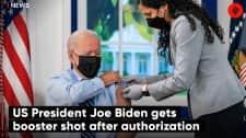 US President Joe Biden gets booster shot after authorization