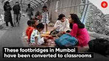These footbridges in Mumbai have been converted to classrooms