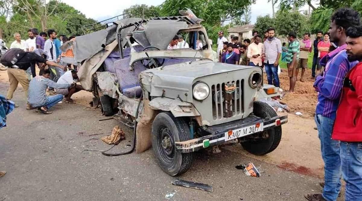 Karnataka, vehicle collision, road accident