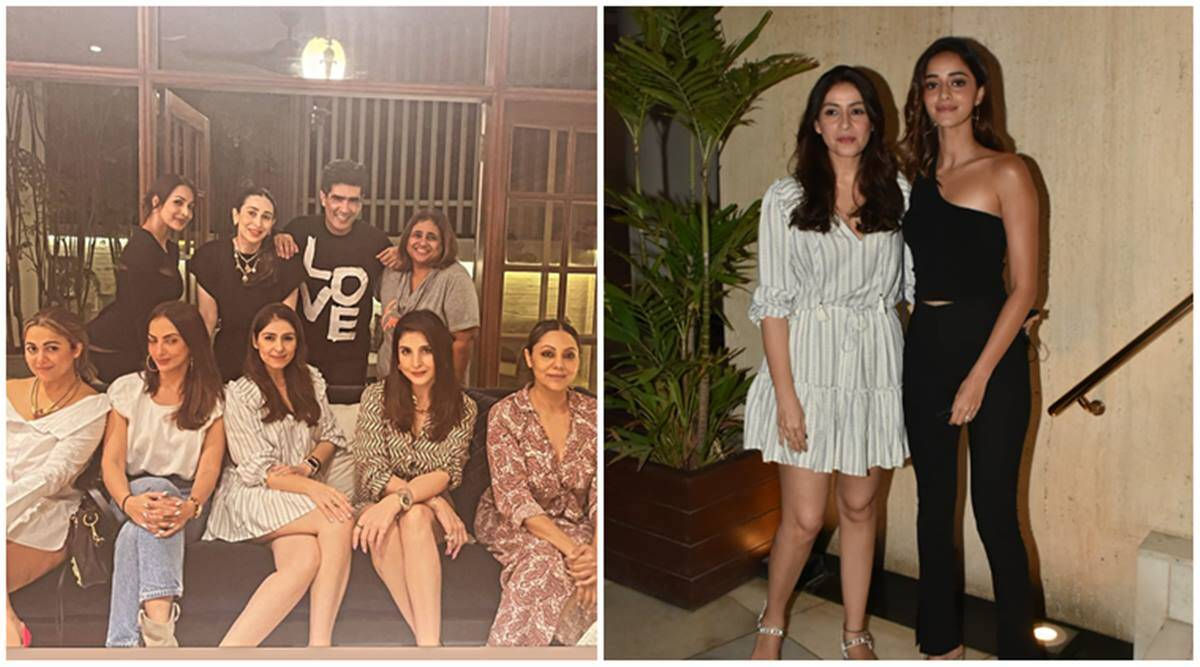 Manish Malhotra party insde photos Gauri Khan, Malaika Arora, Karisma Kapoor, ananya panday