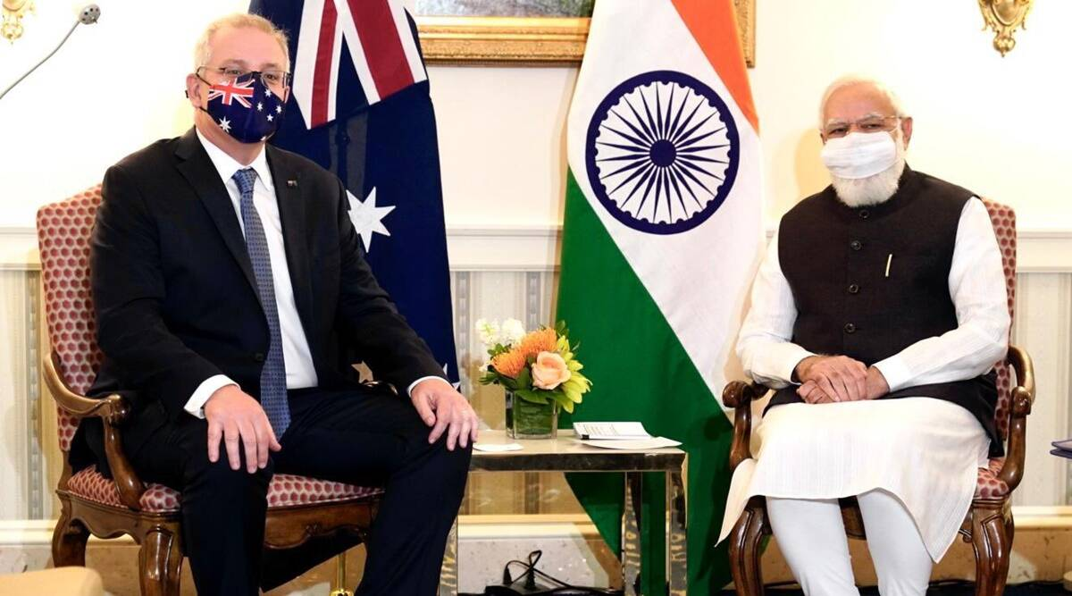 PM Modi meets Scott Morrison ahead of Quad, talks to top CEOs about  investments   India News,The Indian Express