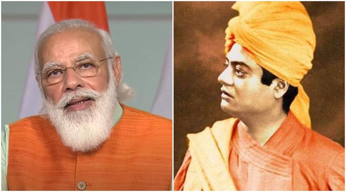 Narendra Modi, Swami Vivekananda, PM Modi on Vivekananda, Vivakananda Chicago speech, India news, Indian express