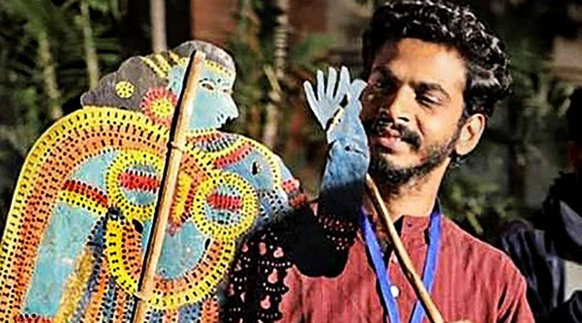 shadow puppetry, shadow puppetry in Kerala, leather puppets, robotics in puppetry, puppetry in Kerala, puppeteer Sajeesh Pulavar, indian express news