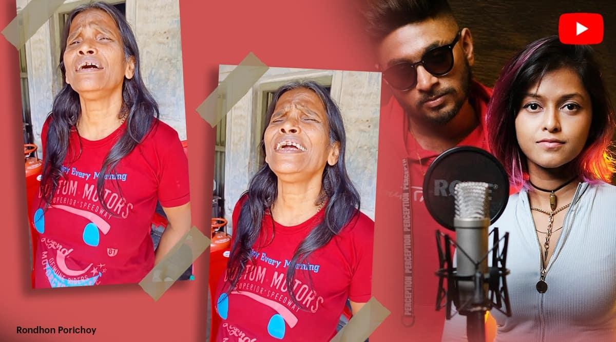 Ranu Mondal sings Manike Mage Hithe, Manike Mage Hithe by Ranu Mondal, Ranu Mondal sings Bachpan Ka Pyar, Manike Mage, indian express, indian express news