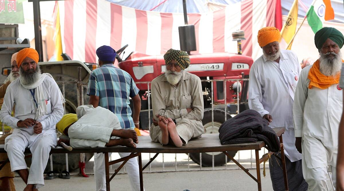 Singhu Border, Protester dies of heart attack, heart attack, Jalandhar, Kirti Kisan Union, Farmers protest, Bharat Bandh, Delhi news, Indian Express, Indian Express news, current affairs