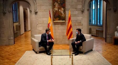 Spain Catalonia talks, Spain Catalonia secession dispute, Catalonia independence, Indian Express