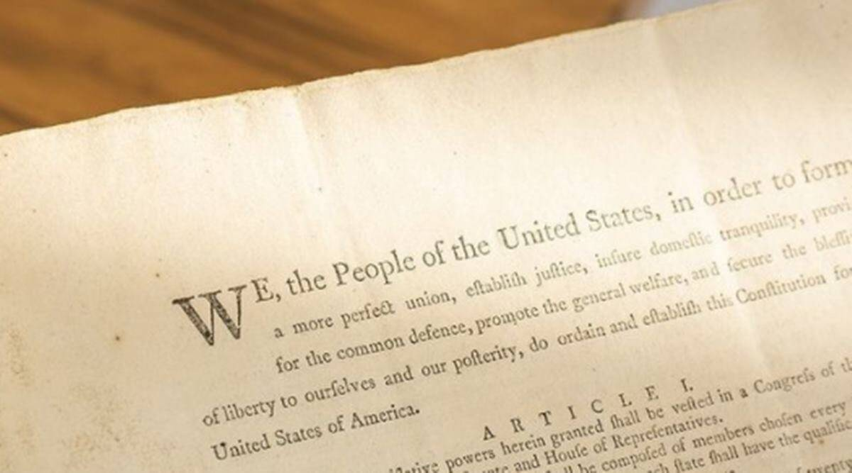 U.S. Constitution, Sotheby's auction, first printing of U.S. Constitution, auction, indian express news