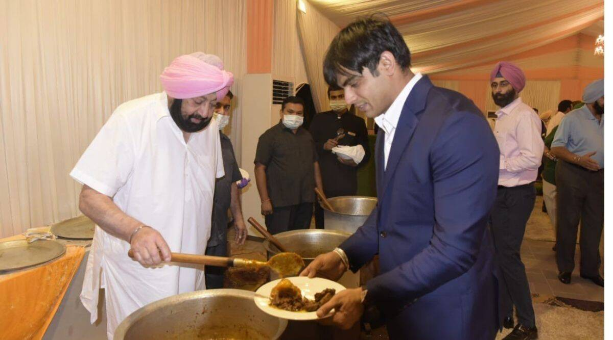Amarinder Singh, Amarinder singh lunch for lympians, Olympians lunch, Tokyo Olympics, Chandigarh news, Olympics, Punjab, Indian Express