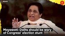 BSP President Mayawati: Dalits should be wary of Congress' election stunt
