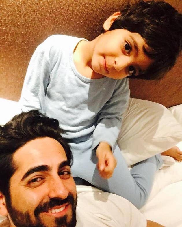 aayushmaan with his son