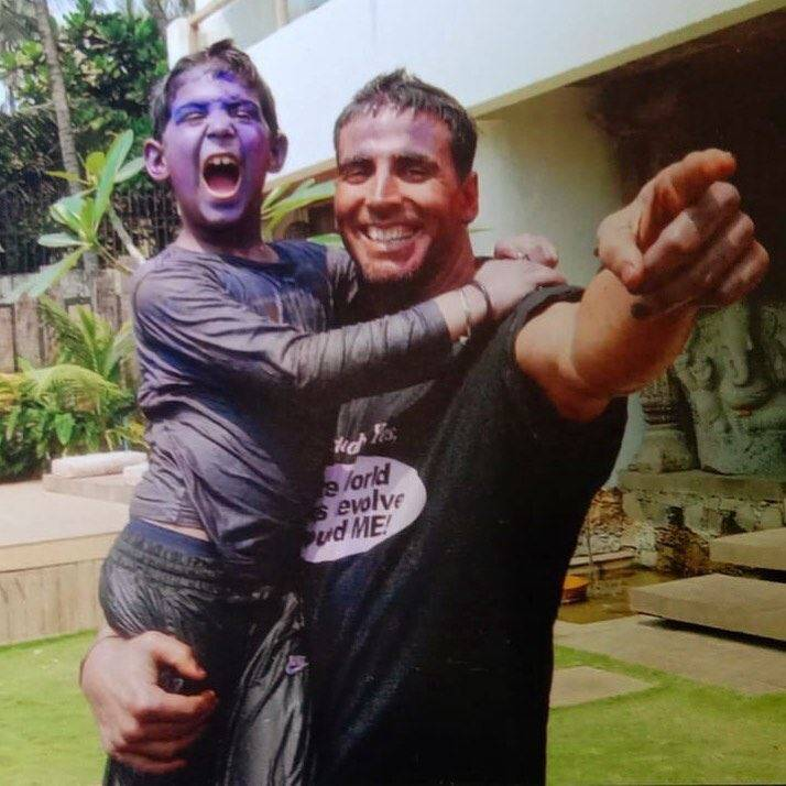 akshay with son aarav