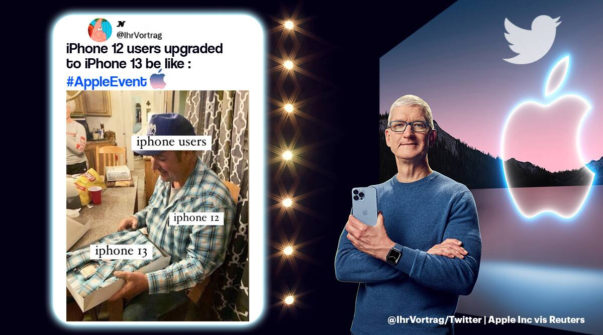apple event, apple new products, apple iphone 13, iphone 13 features, iphone 13 prices, tim cook apple event, apple event memes, indian express, tech news