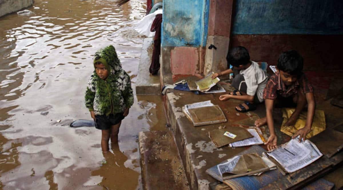 childeren and rain