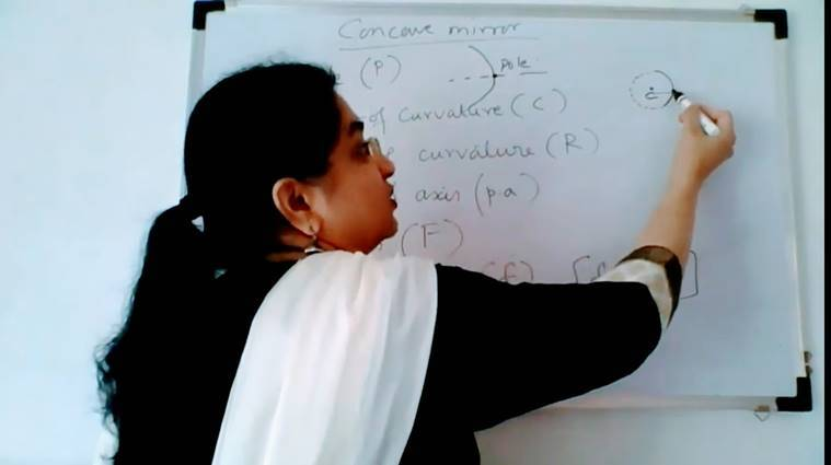 Veena Thadani who teaches biology at St Mary's Junior College (SMJC) in Pune.