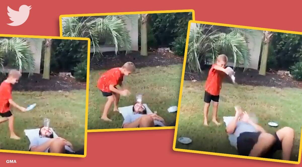 boy tries experiment, boy egg drop challenge, 7 year old boy Georgia, boy viral egg challenge, trending, indian express, indian express news