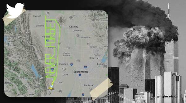 9/11 terror attack, 9/11 terror attack viral video, 9/11 Never Forget, pilot writes never forget to pay tribute to 9/11 terror attack, trending, indian express, indian expess news