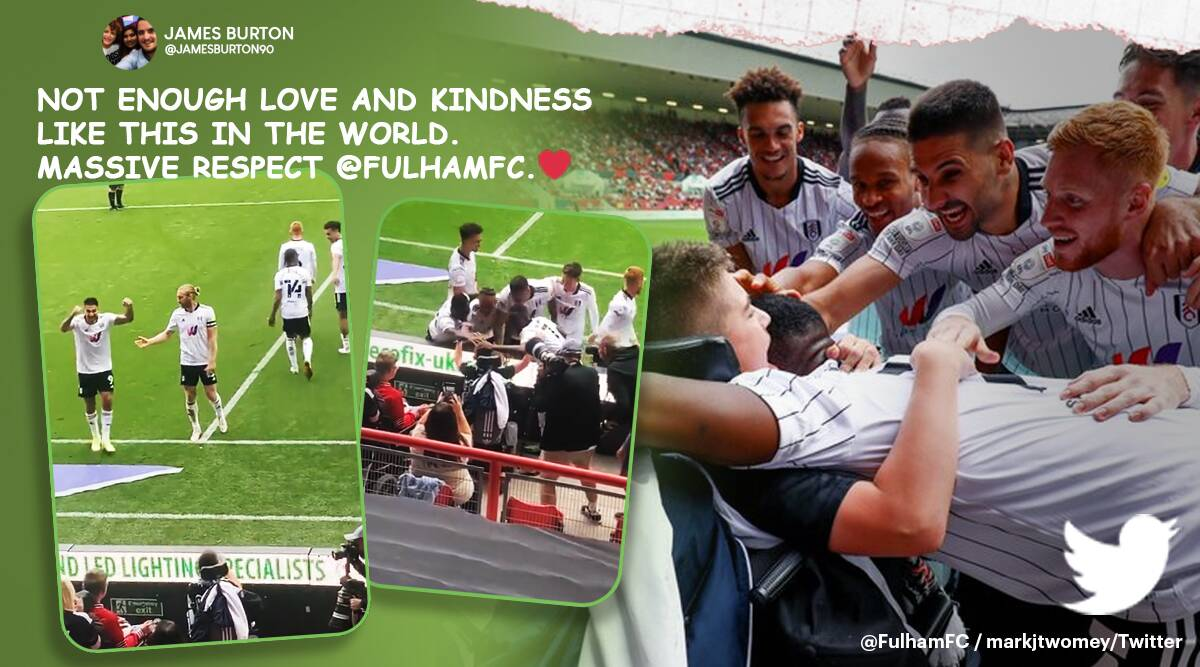 fulham fc, Rhys Porter, boy cerebral palsy bullied, disabled football fan bullied, fulham club celebrate cerebral palsy fan, viral video, good news, indian express