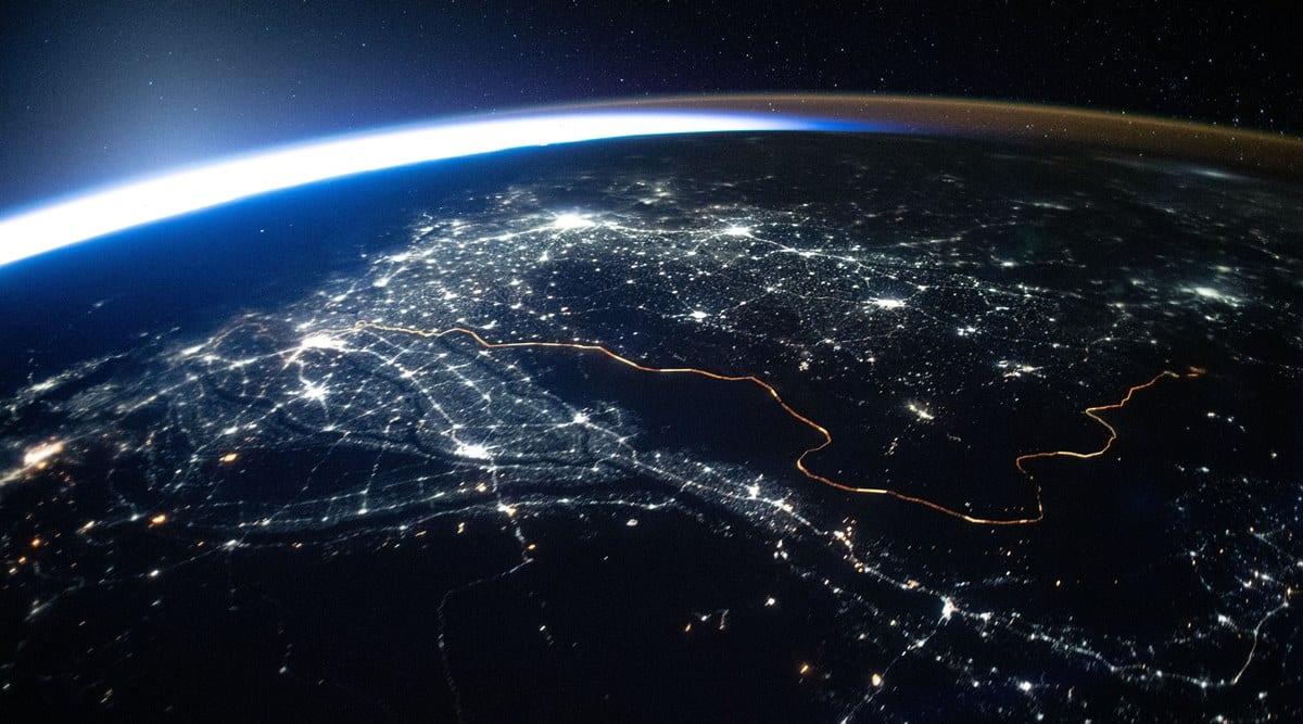 ISS, International Space Station, NASA, iss earth horizon ring, earth, earth horizon night photo, nasa space photo earth, science news, indian express