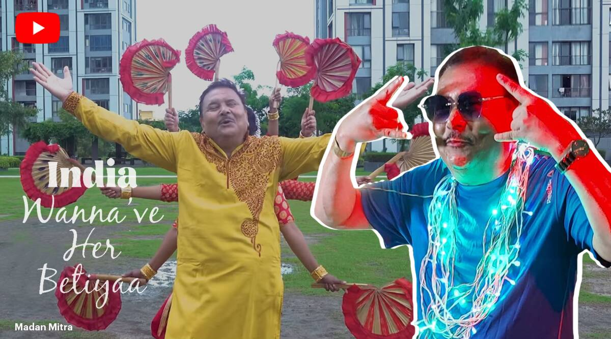 madan mitra, tmc mla durga pujo rap, madan mitra mm mm song, India Wanna've Her Betiya, west bengal bypoll, mamata banerjee bypoll, indian express, viral news