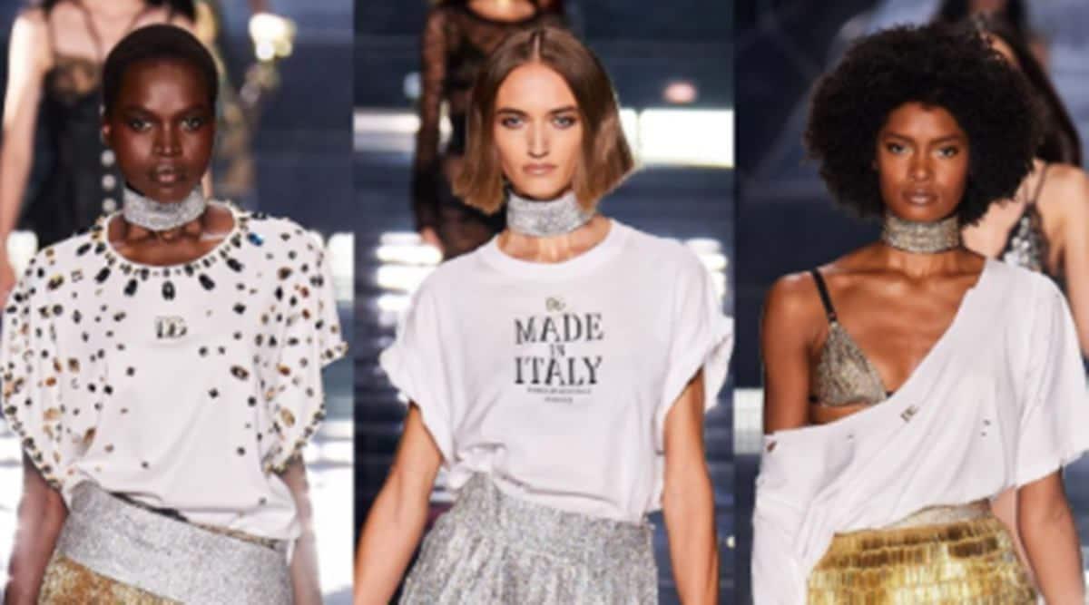 Dolce & Gabbana's Milan fashion show, Milan Fashion Week, Designers Domenico Dolce and Stefano Gabbana, fashion, indian express news