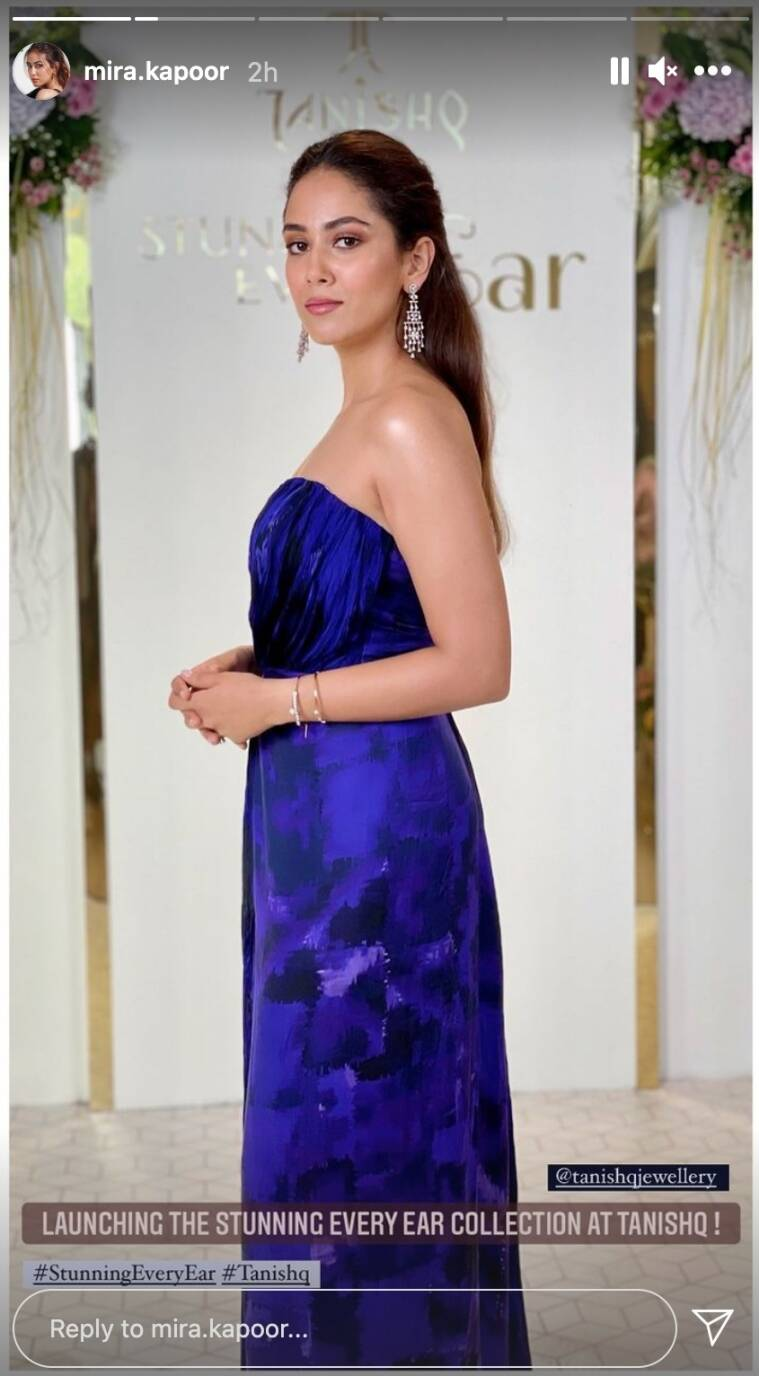 Mira Kapoor is gorgeous in blue, shares photos with 'Glam on the rocks' |  Entertainment News,The Indian Express