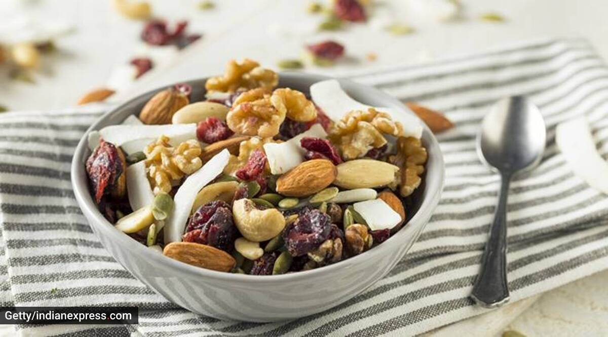 walnuts, almonds, morning nutrition, how to start your day, indianexpress.com, indianexpress,