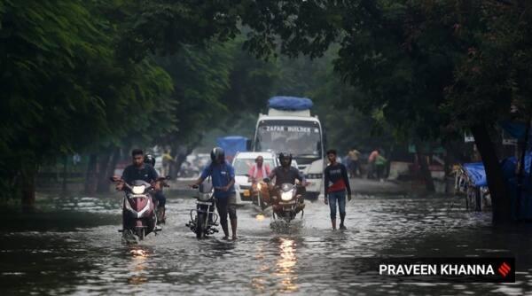 Delhi rain, waterlogging