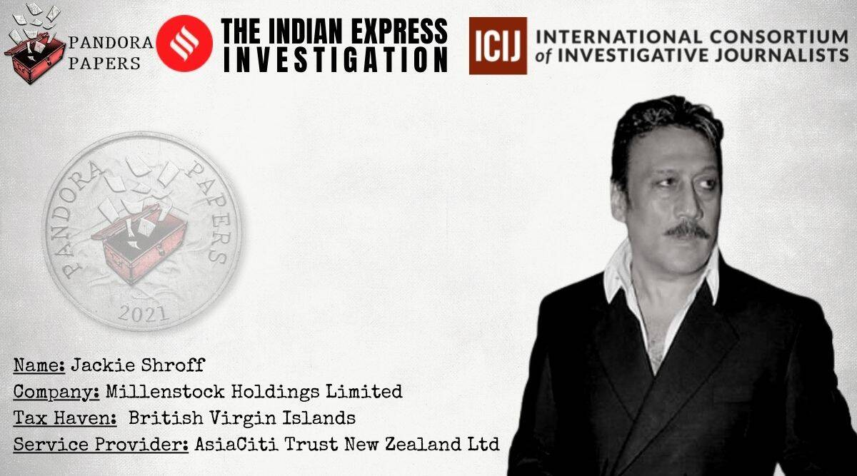 Pandora Papers Jackie Shroff, offshore firms, Pandora Papers india, panama Papers indian celebrities, panama Papers pdf, panama Papers list, panama Papers indian names, panama papers indian, Jackie Shroff news, indian express investigation, Indian express news