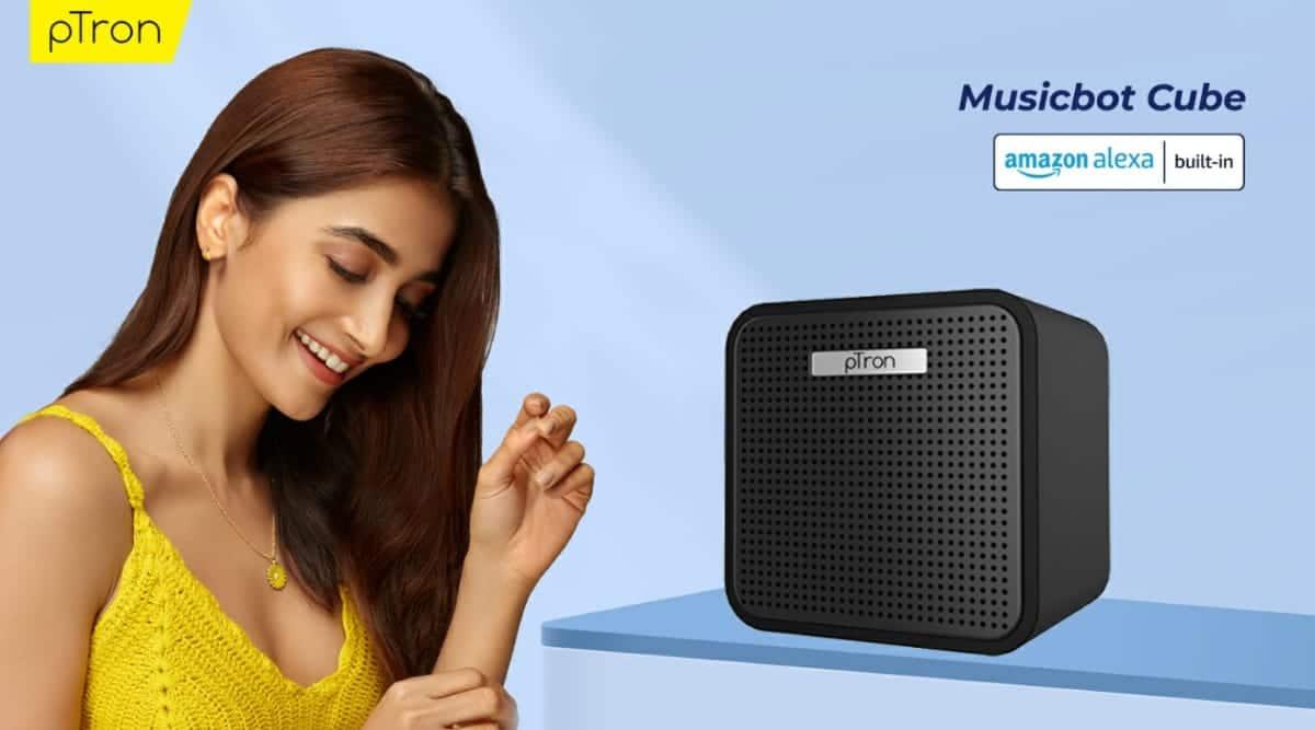 Alexa speakers, pTron Musicbot Cube, Budget Alexa speakers, Budget Bluetooth speaker, pTron Alexa speaker, best budget Bluetooth speakers