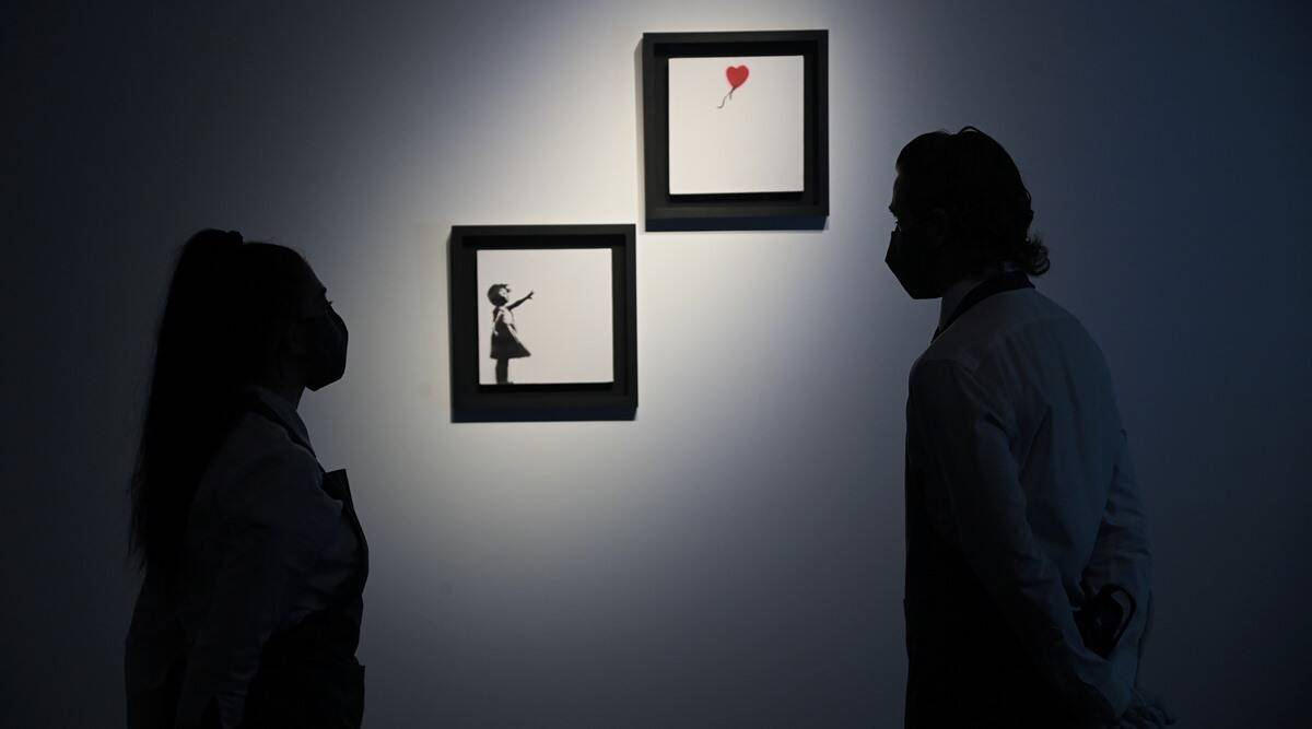 Banksy, Girl With Balloon, Girl With Balloon auction