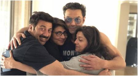 Bobby deol- sunny deol- and sisters