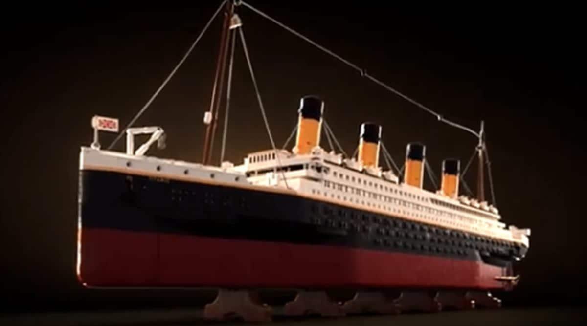 LEGO, LEGO ship, LEGO Titanic model, LEGO Titanic, Titanic ship replica, LEGO largest set, RMS Titanic, indian express news