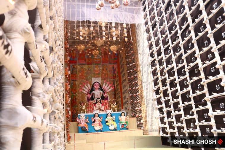 Durga Puja, Durga Puja 2021, Durga Puja 2021 themes, Durga Puja pandal themes 2021, Durga Puja Burj Khalifa pandal, pandal themes for Durga Puja in Kolkata, indian express news