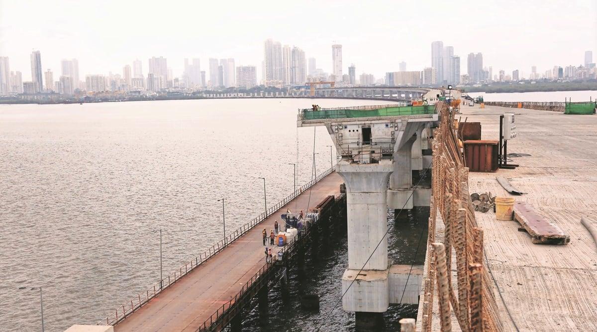 Mumbai Trans Harbour Link, MTHL, Trans Harbour Link, Navi Mumbai, Raigad, Pune, Goa, Panvel and Alibaug, Mumbai, Mumbai news, Indian express, Indian express news, Mumbai latest news