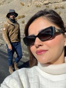 Rubina Dilaik-Abhinav Shukla are chilling in the mountains