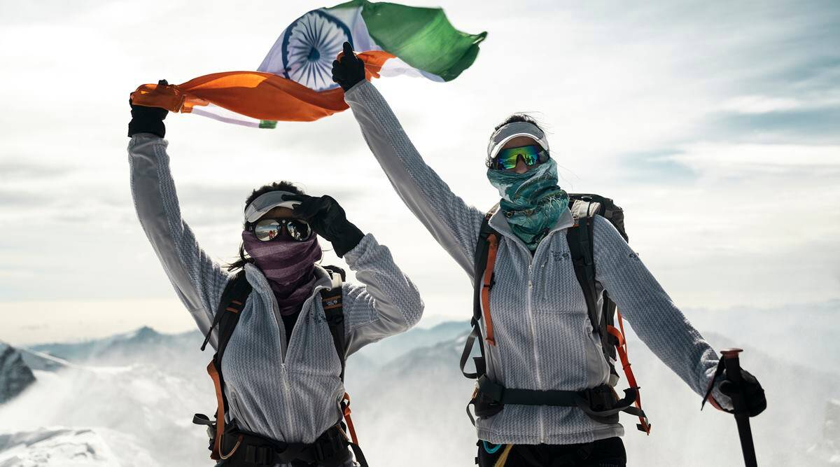 Everest Twins, Everest Twins Tashi and Nungshi Malik, Tashi and Nungshi Malik interview, Tashi and Nungshi Malik mountaineering, Mt Everest, climbing Mt Everest, mountaineering, Swiss Alps, Switzerland, female mountaineers in Indian, indian express news
