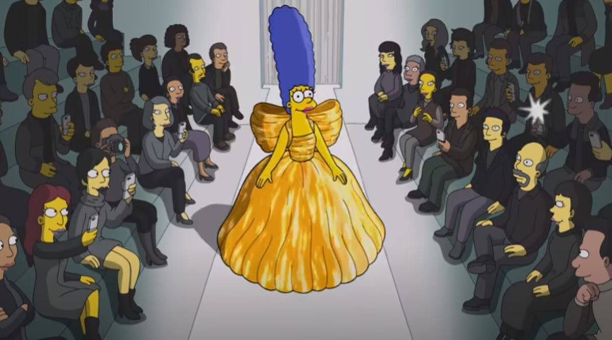 The Simpsons, The Simpsons runway debut, The Simpsons Paris Fashion Week, The Simpsons in Balenciaga, indian express news