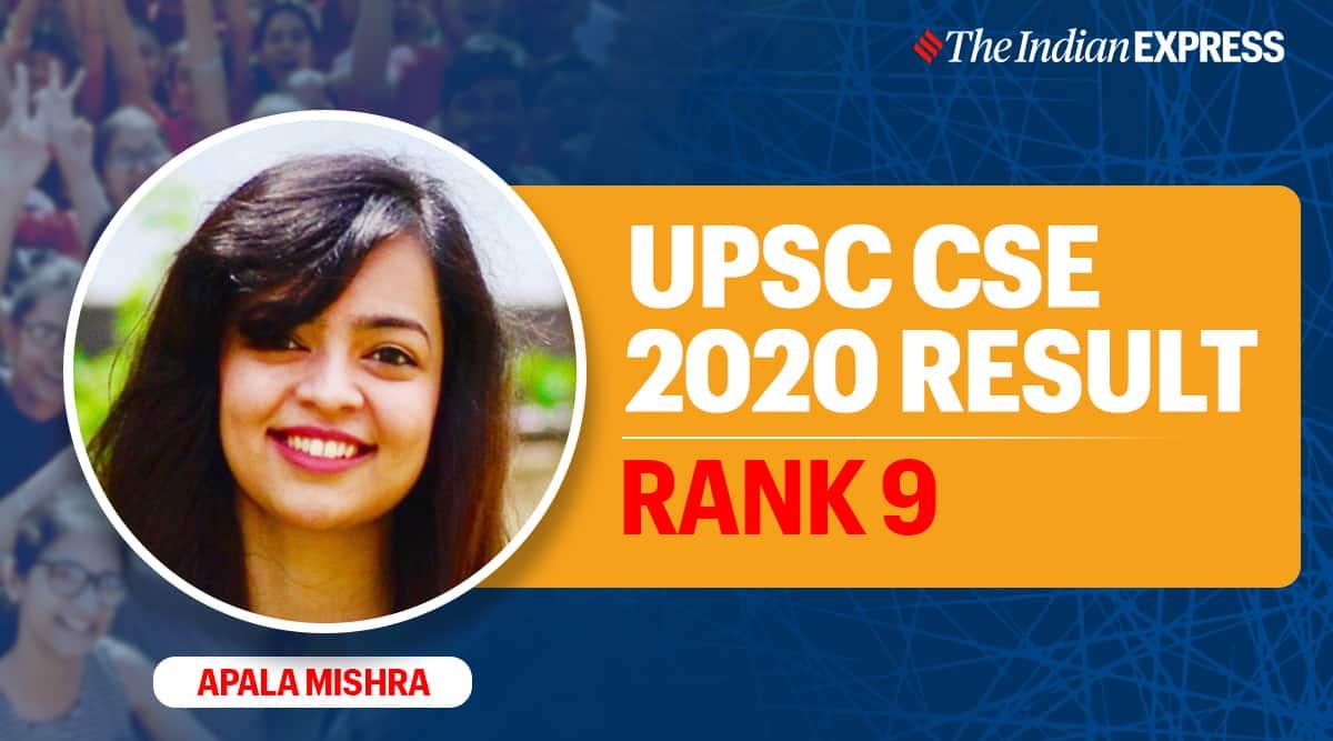 UPSC 2020 result, UPSC CSE 2020, Apala mishra
