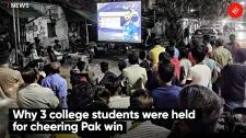 Why 3 college students were held for cheering Pak win