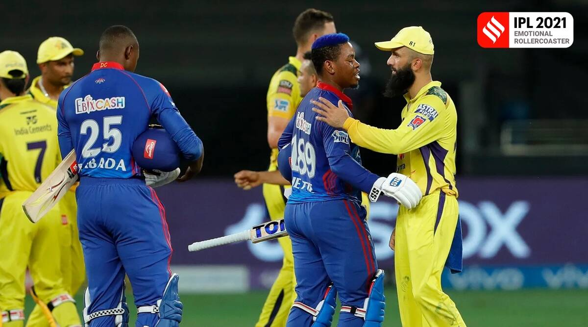 DC vs CSK: Gowtham misses Hetmyer catch; Pant chatter with Axar continues