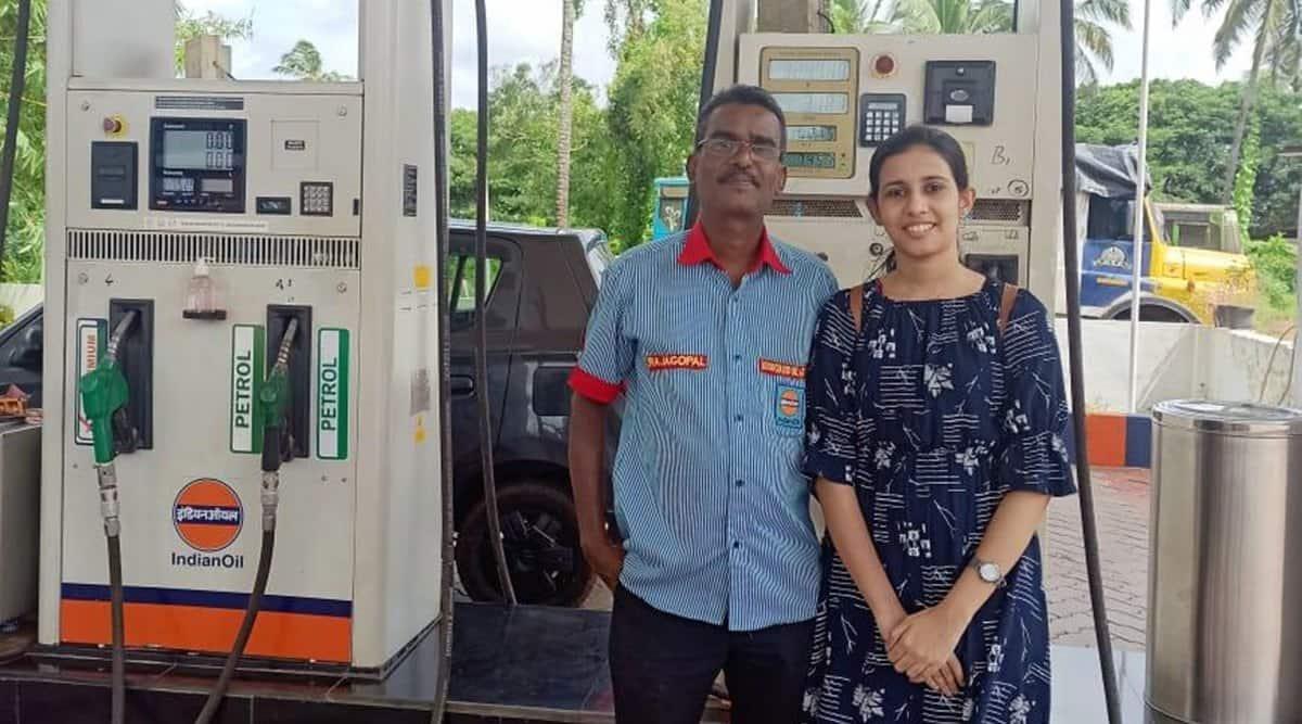 petrol pump staff daughter iit, ioc pump employee daughter iit kanpur, kerala petrol pump staff daughter iit, arya Rajagoplan, arya Rajagoplan iit kanpur, indian express
