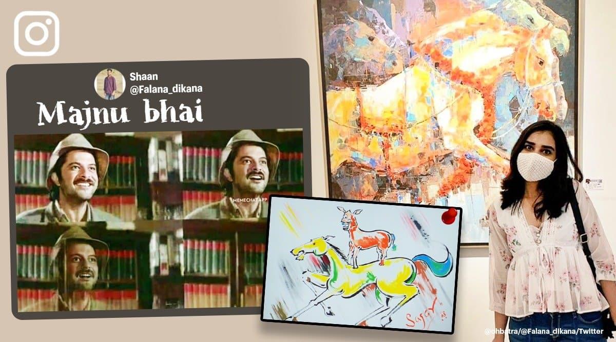 majnu bhai ki painting, anil kapoor majnu bhai painting, welcome majnu bhai painting, majnu bhai panting memes, viral news, indian express