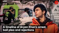 A timeline of Aryan Khan's arrest, bail plea and rejections