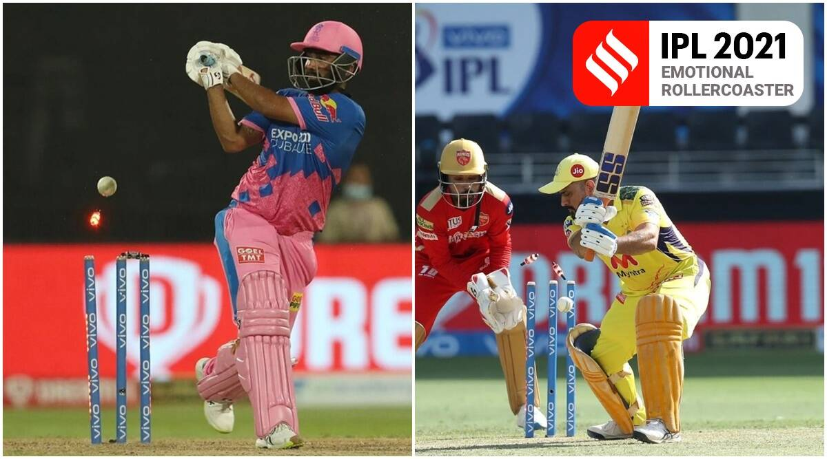 Bishnoi gets Dhoni with a googly and Tewatia lone battle meets tame end